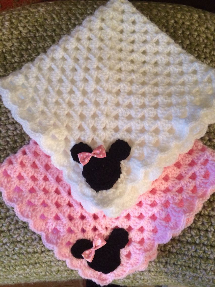 Minnie Mouse dolly crib blanket  2e07ba699901