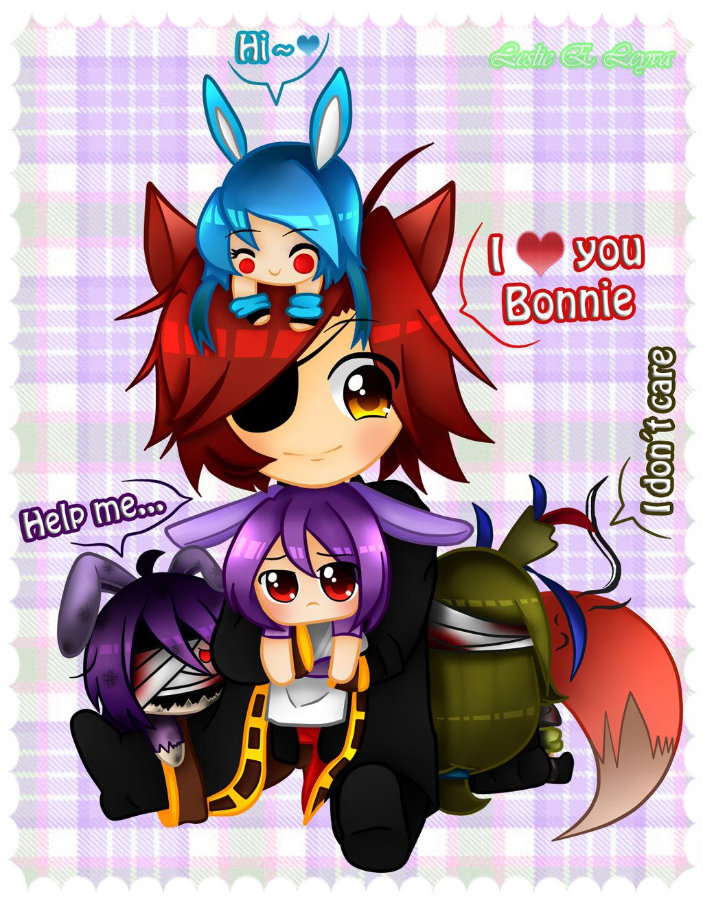 DeviantArt More Like Foxy X Bonnie Human Before And After