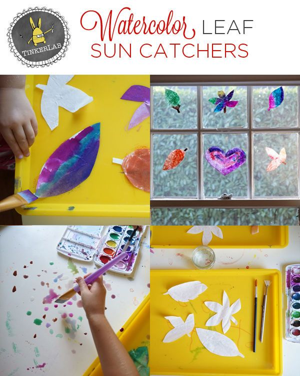 Watercolor leaf suncatchers kids diy craft toddler crafts diy crafts watercolor leaf suncatchers kids diy craft toddler crafts diy crafts do it yourself diy projects kids solutioingenieria Images