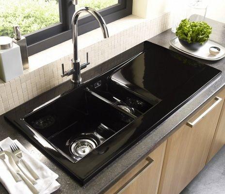 Astracast Liscio 15 Bowl Black Ceramic Kitchen Sink Finvoy