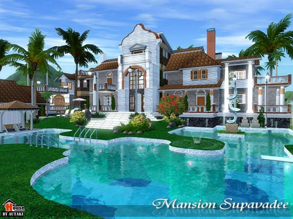 Victorian Luxurious Supavadee Mansion By Autaki Sims 3 Downloads Cc Caboodle Sims 3 Mansion Mansions Sims House