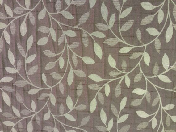 Small floral leaves brown Upholstery floral brocade Curtains bedding duvet,  sewing Roman Blinds, Duvet