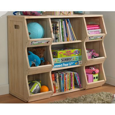 Cubbies and book storage merry products children 39 s for Kids room book shelf