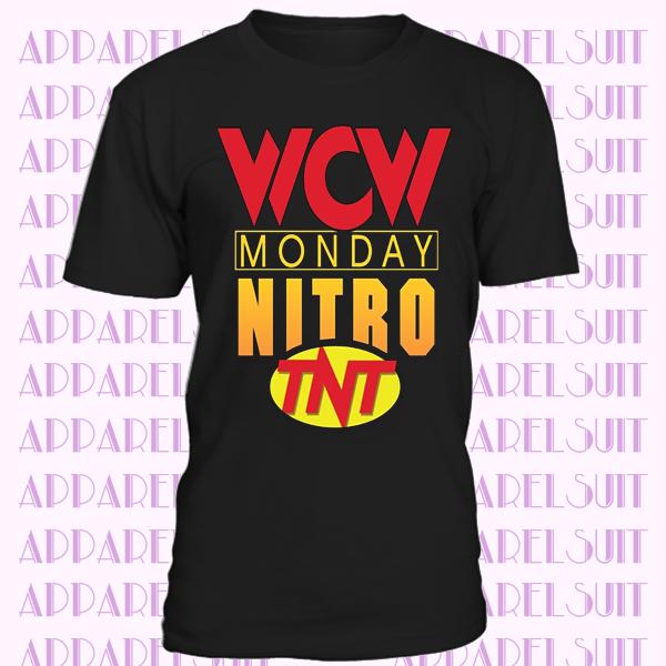 Wcw Monday Night Nitro T Shirt Wrestling Classic Retro Logo Retro Logo T Shirt Shirts
