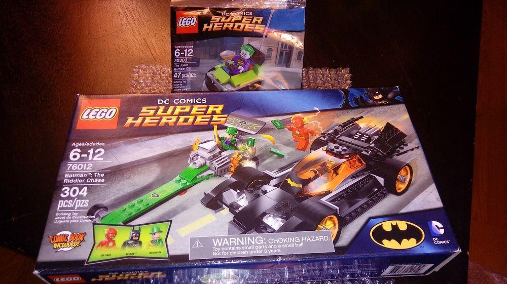 JOKER BUMPER CART🎁+🌟BATMAN RIDDLER CHASE 2014 LEGO DC