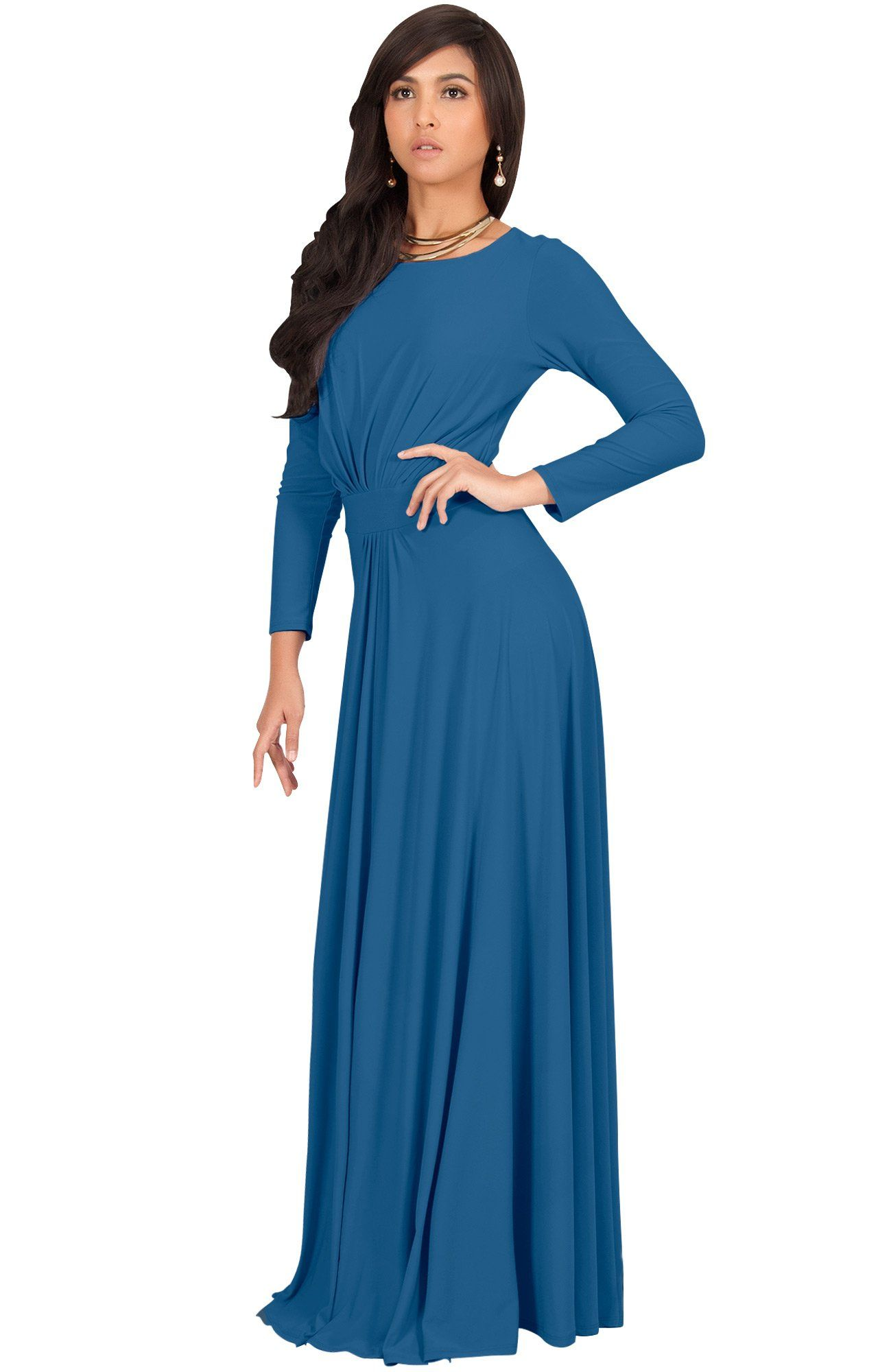 3f40c082194d Maternity Fashion - comfortable maternity dresses   KOH KOH Womens Long  Full Sleeve Sleeves Flowy Empire