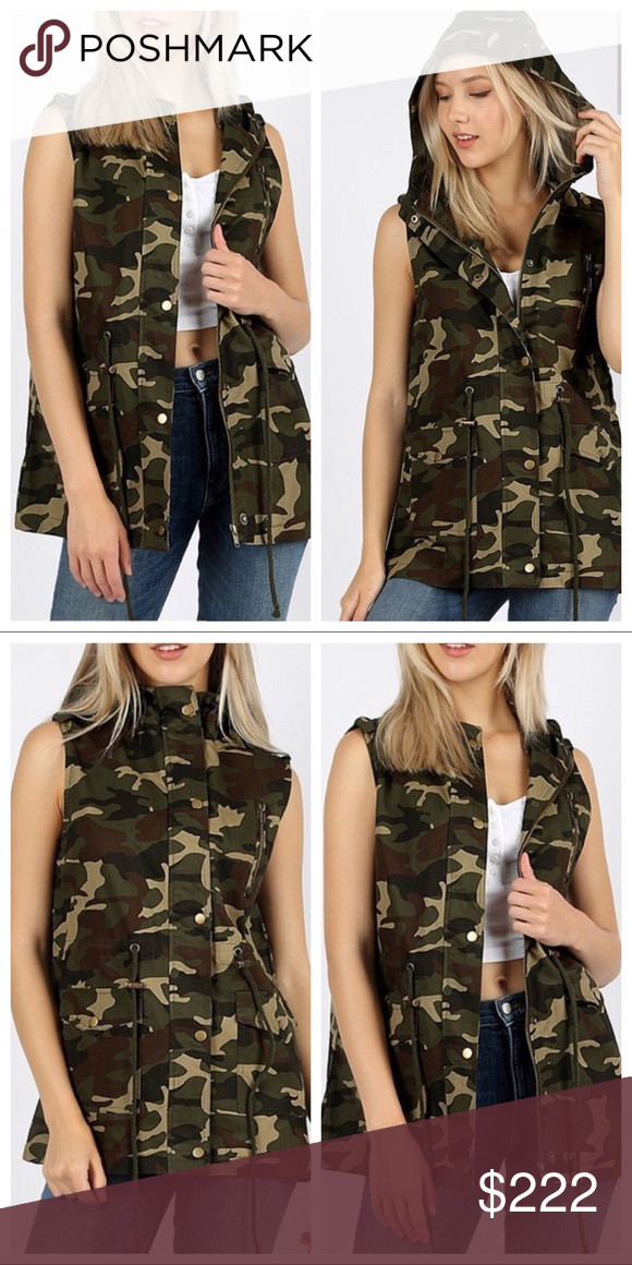 8e8ef580f10 🍃PLUS-SIZE CAMO HOODIE VEST NEW🍃 🚫 2X- SOLD OUT🚫 1X