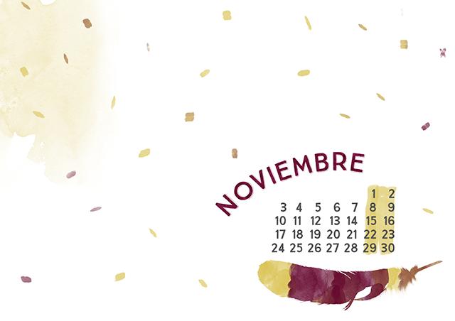 imprimible: calendario noviembre | milowcostblog♥