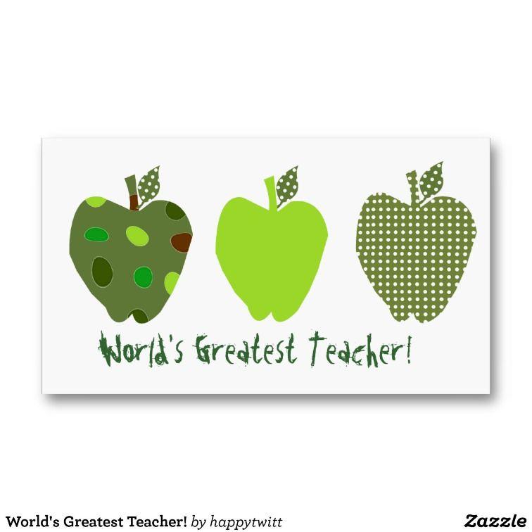 Business Cards, 31 Teacher Appreciation Business Card Templates ...