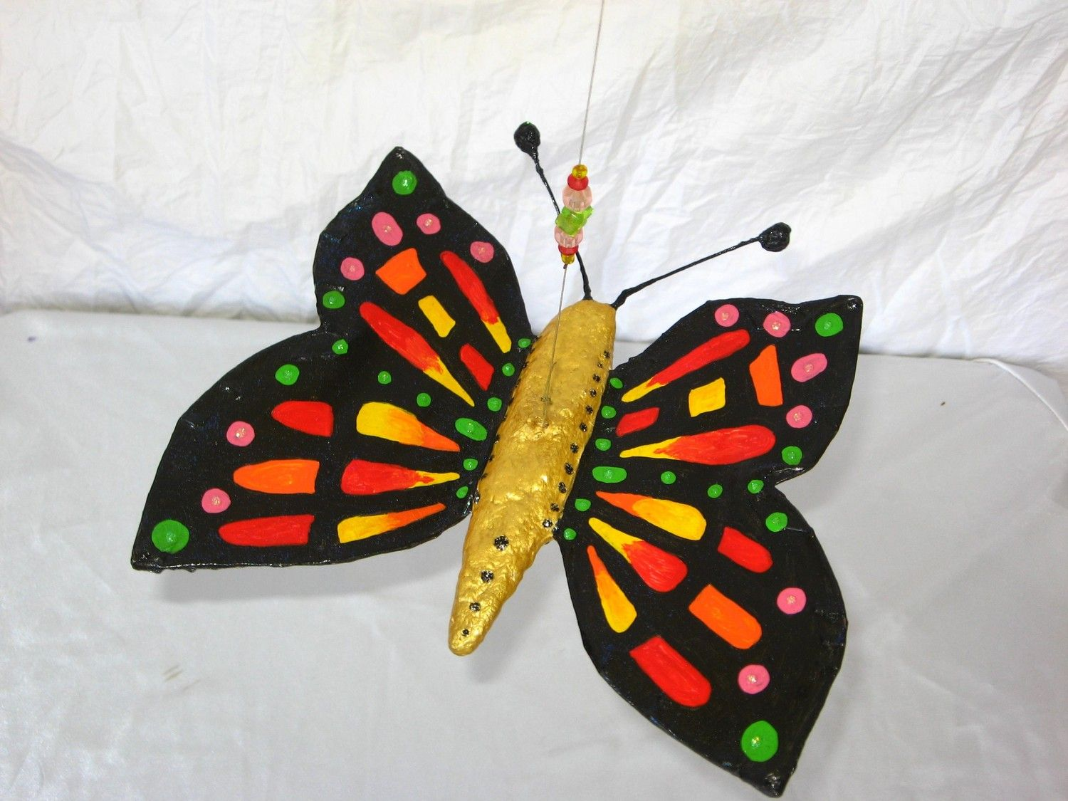Paper mache butterfly google search art education and for Paper art butterfly