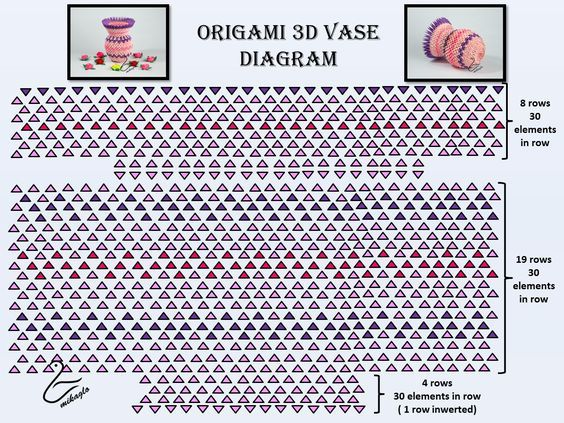 3d Origami Heart Vase Instructions Skaritmafo 3d Origami