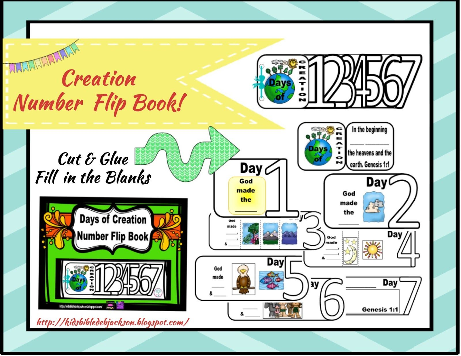 The Creation For Kids Day 4 Creation Number Flip Book Printable