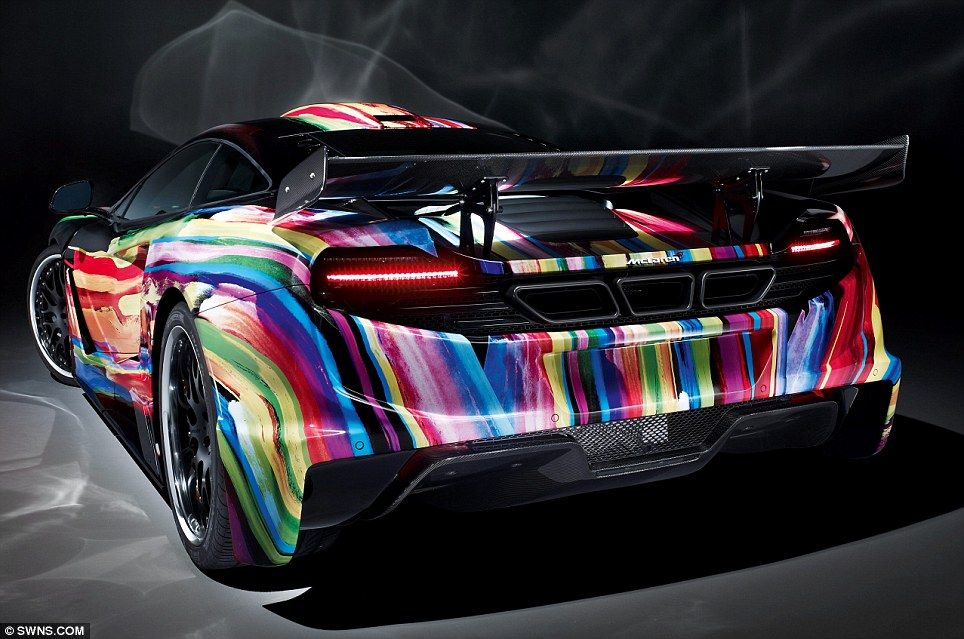 Vroom with a hue McLaren supercar gets £90,000