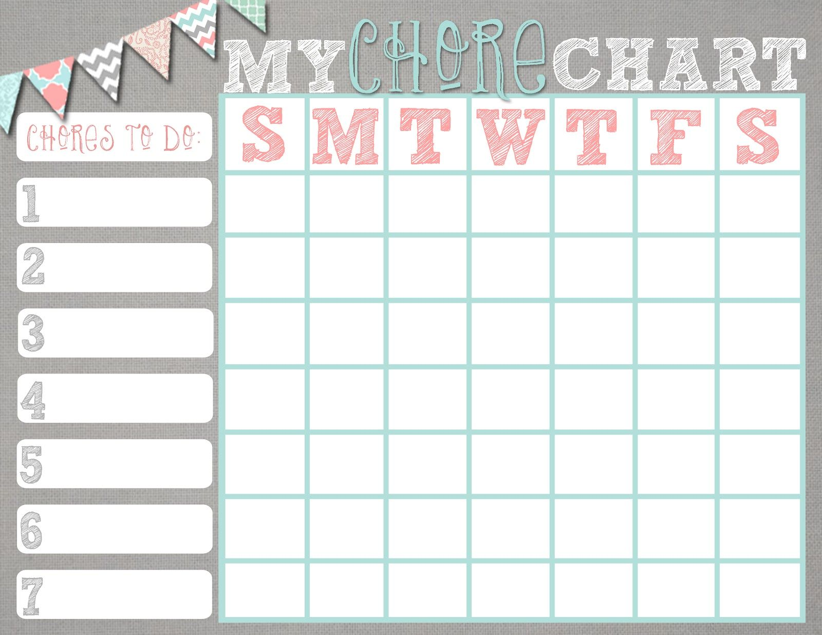 Free chore chart printables. Boy and girl versions that'll look ...