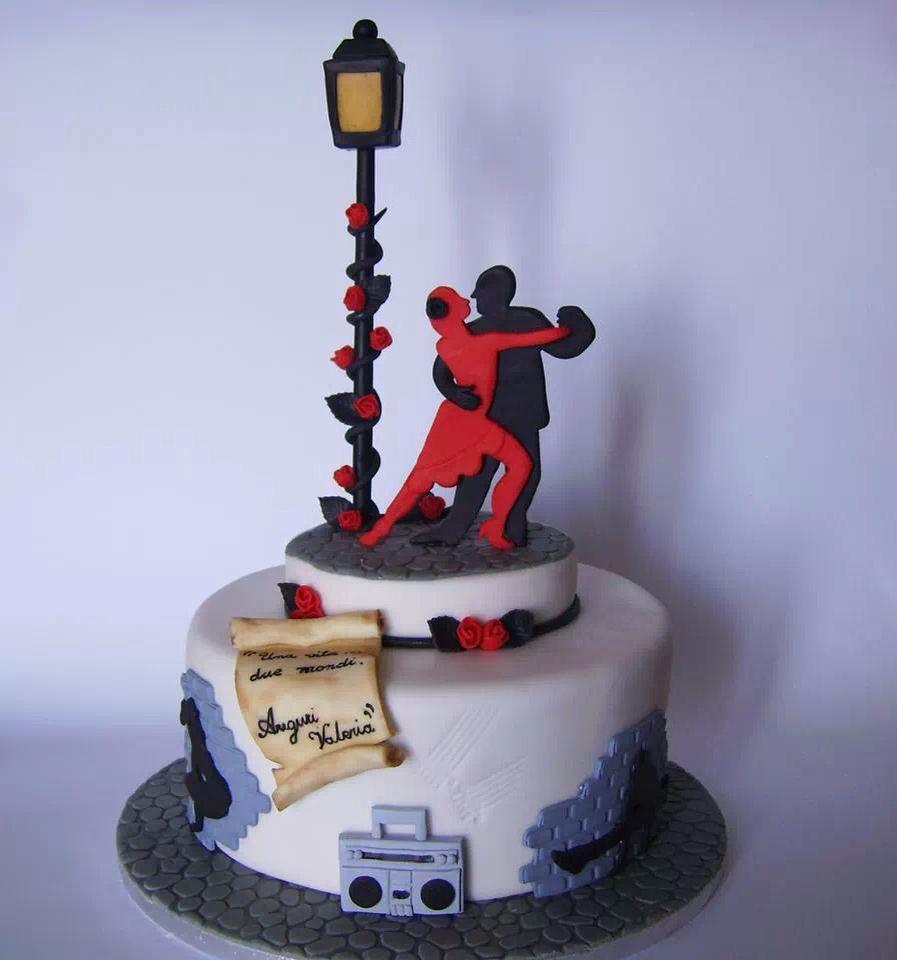 Torta tango ed hip hop ️ | Tortas de diseño | Dance cakes ...