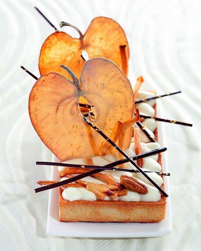 Apple dessert by French chef and chocolatier @chef_philippe_bertrand #TheArtOfPlating
