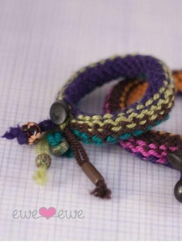 Knitship Bracelets in Ewe Ewe Yarns Free Pattern