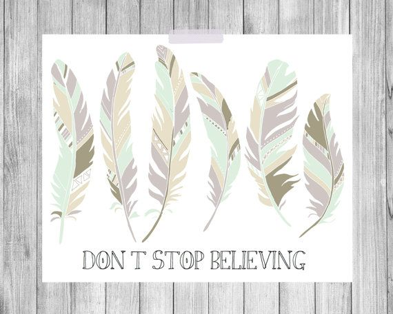 Feathers Art Print, quote print, feather print wall decor poster - 8x10 on Etsy, $15.00