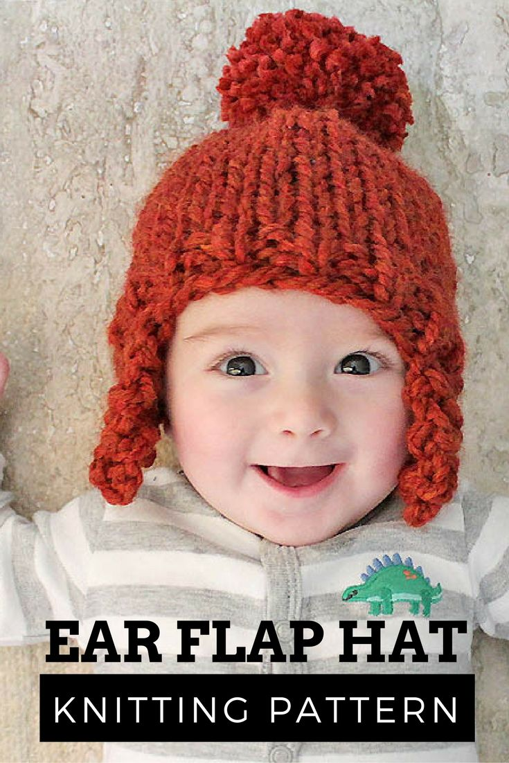 FREE Knitting Pattern for a baby Ear Flap Hat | Blogger Knitting ...