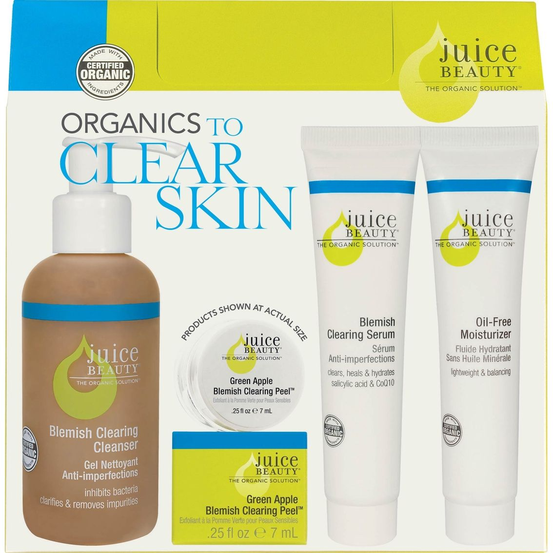 Get The Perfect Four Step Organic Solution To Clear Healthy Skin With This 30 Day Kit Juice Beauty Oily Skin Treatment Clear Skin