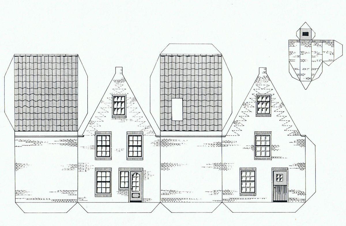 картинки шаблон бумажного домика с размерами жители внимательно изучают