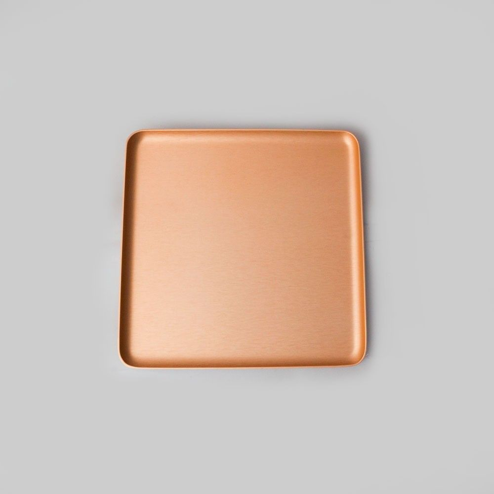 The Perfect Serving Tray Kaymet Square Blush Rose Gold 17cm X