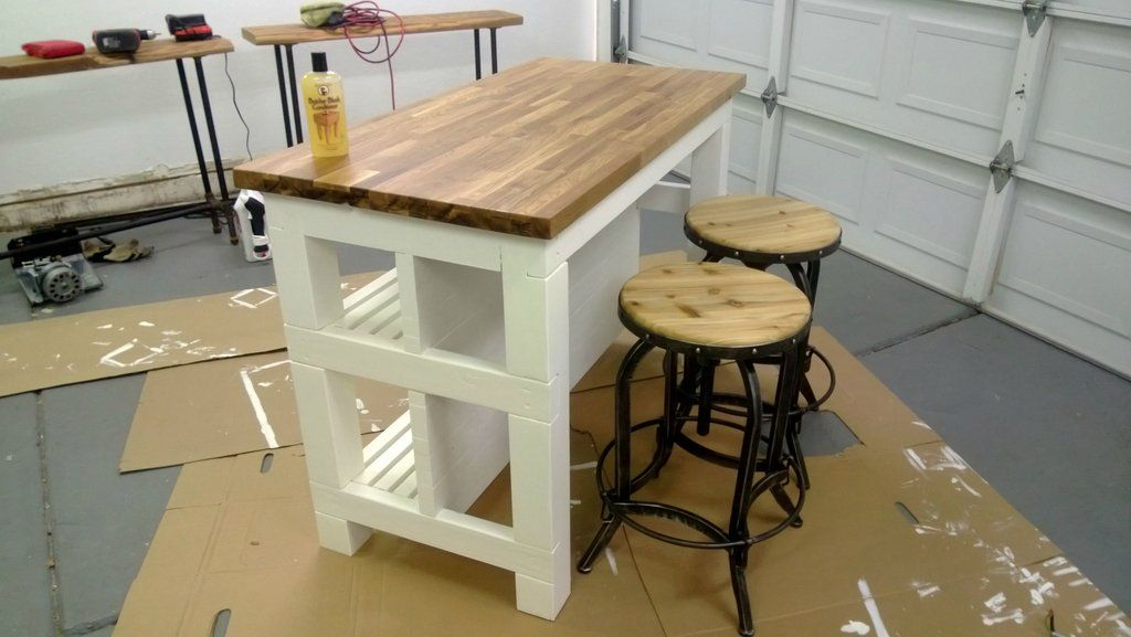 I'm too cheap to buy a Kitchen Island, so I built one | Ikea butcher ...