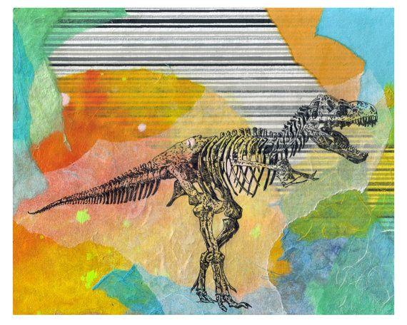 Tyrannosaurus Rex T Rex Dinosaur Animal Art Print From Original ...