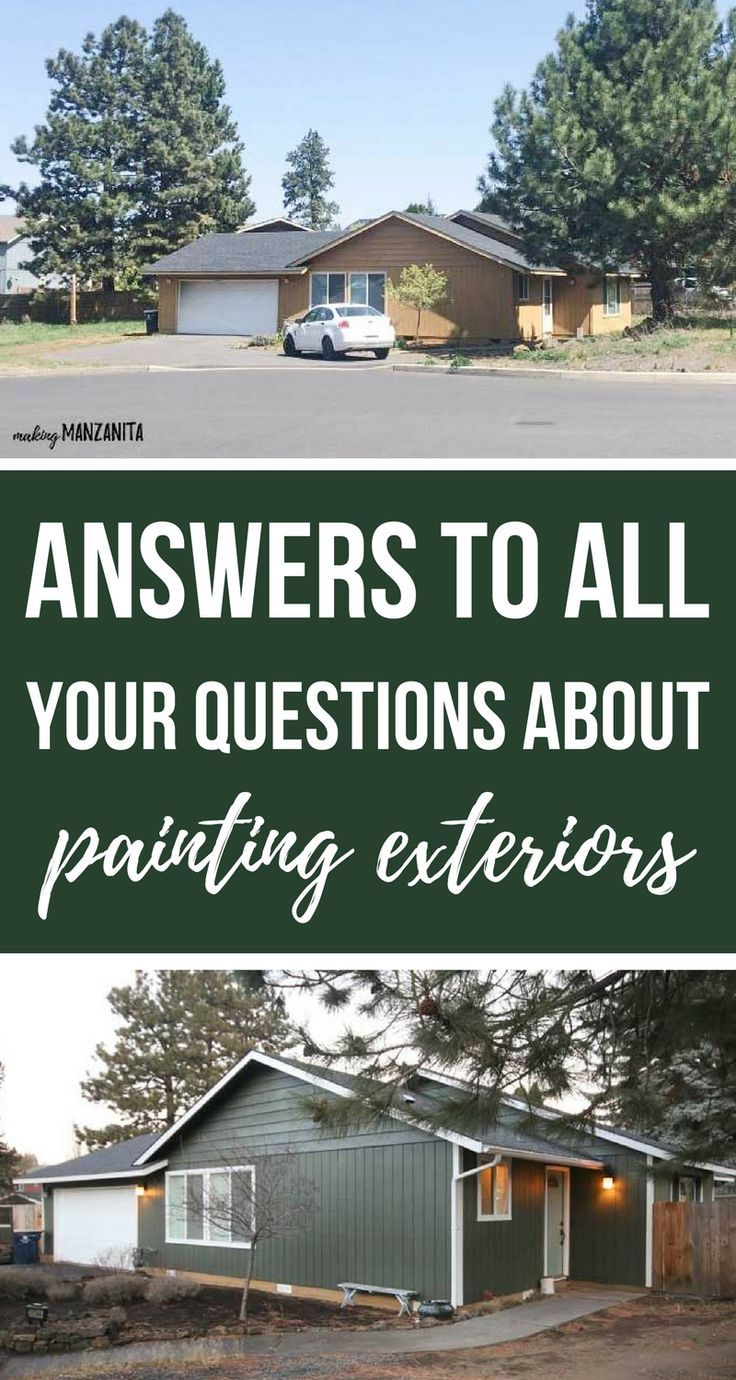 I need to paint my house exterior! Answers To Your Paint Questions ...