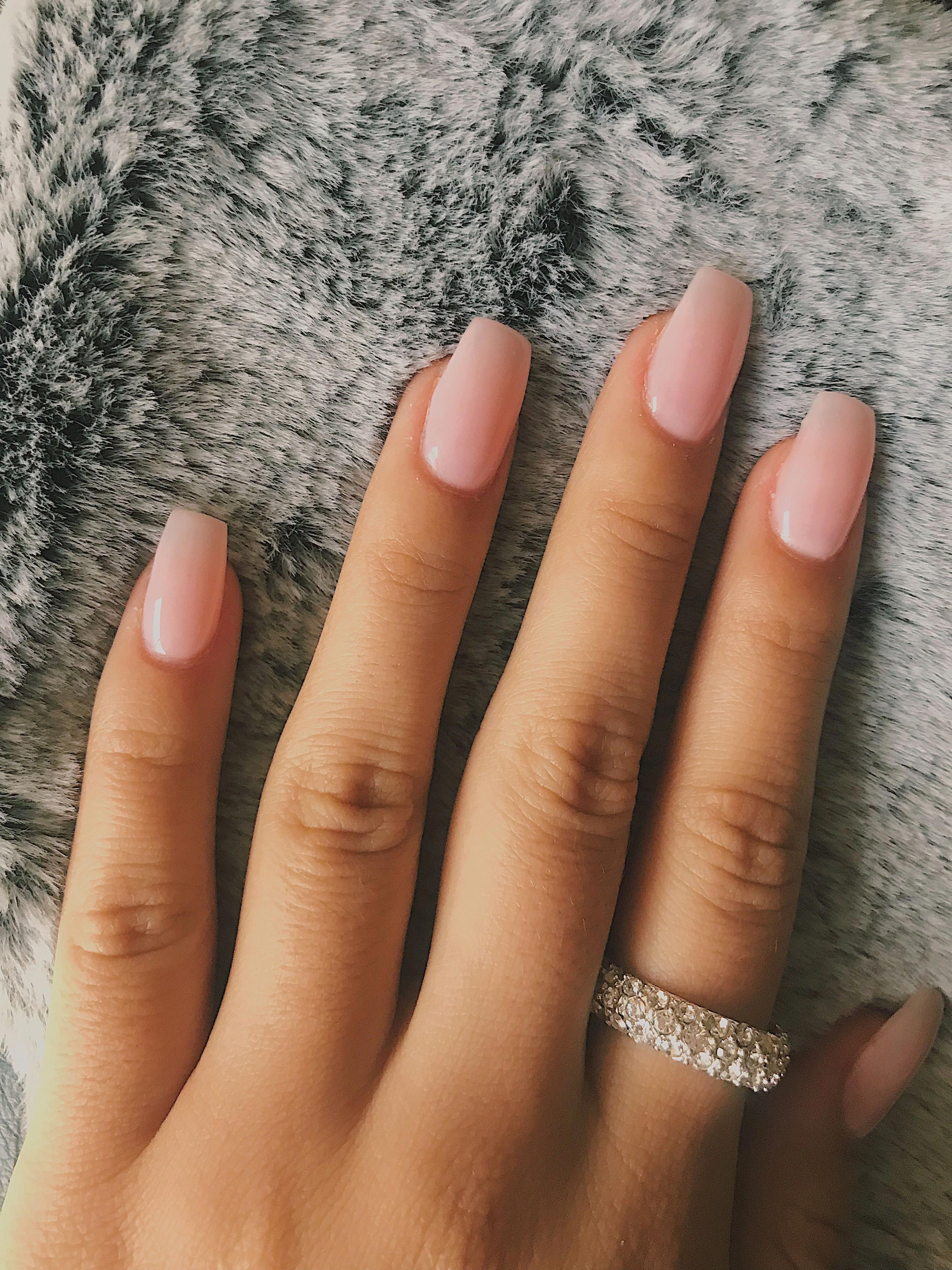 Nails For Red Dress : nails, dress, Summer, Happy, Sunshine, Little, Dress, Outfit, Daytime, Exercise, Green, Prett…, Blush, Nails,, Short, Acrylic, Nails