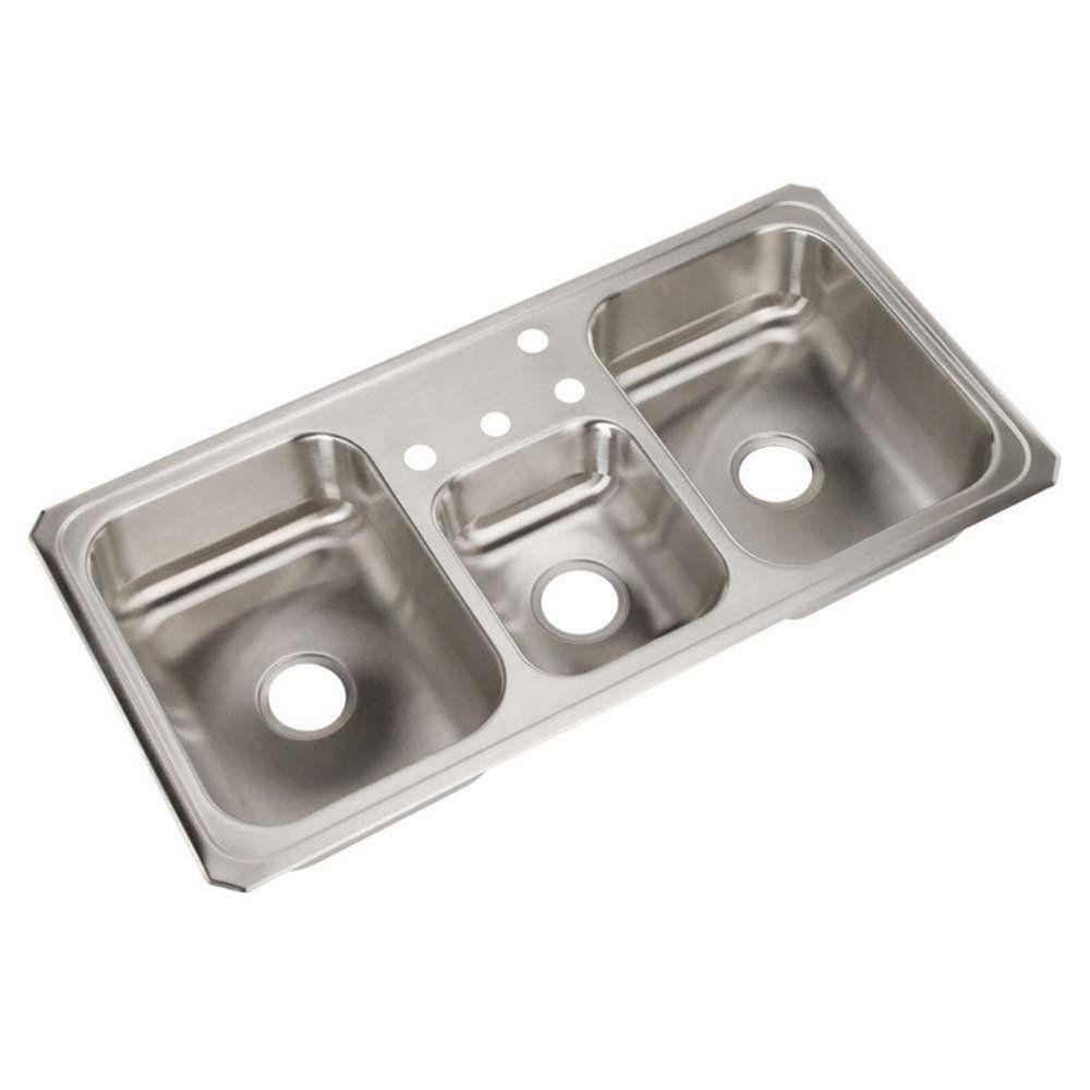 Elkay Celebrity CMR43224 Triple Basin Drop In Kitchen Sink - Get a ...