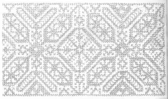 Diseños para bordar alfombras marroquíes