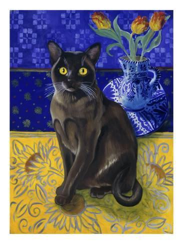 Burmese Cat Series I Giclee Print By Isy Ochoa With Images