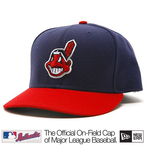 Cleveland Indians New Era Authentic Home Field 59Fifty Hat ... 485639e8d60