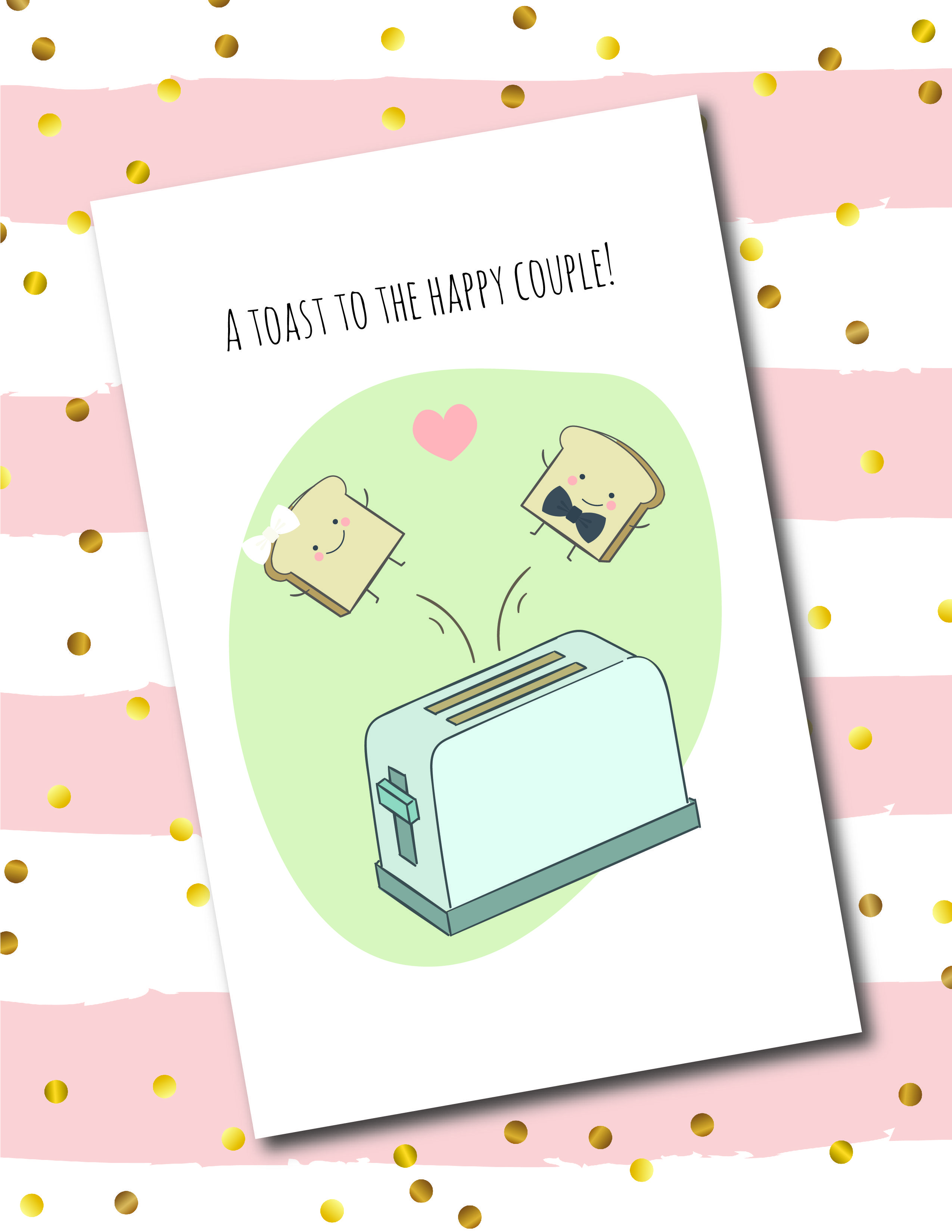 picture about Printable Greeting Card Stock known as Wedding day Toast / Joyful Several Printable Greeting Card