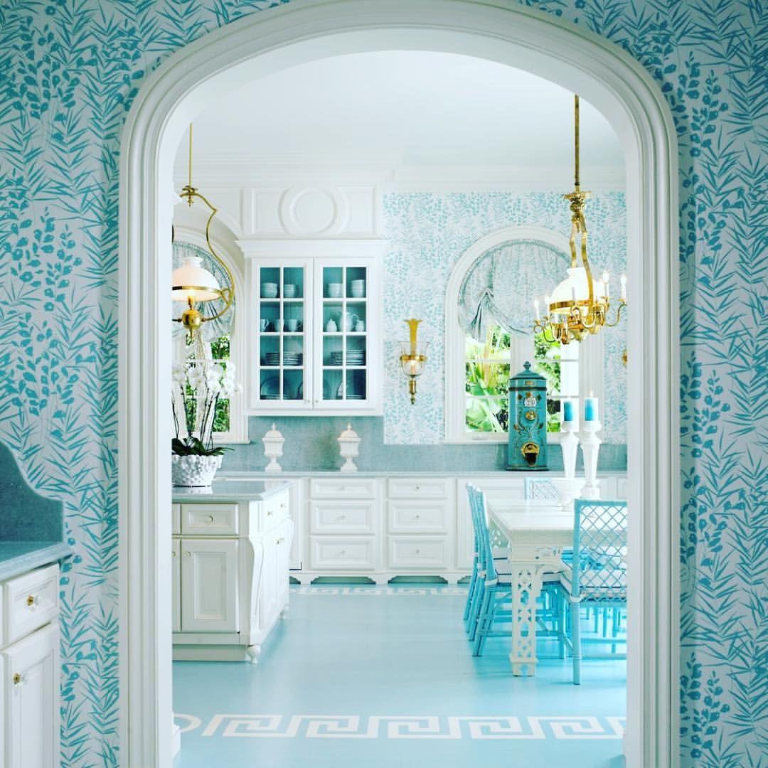 Bright & Blue #bright #turquoise #blue #kitchen #design #decor ...