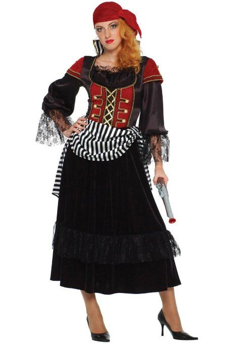 treasure pirate wench adult costume nice modest halloween costume - Modest Womens Halloween Costumes
