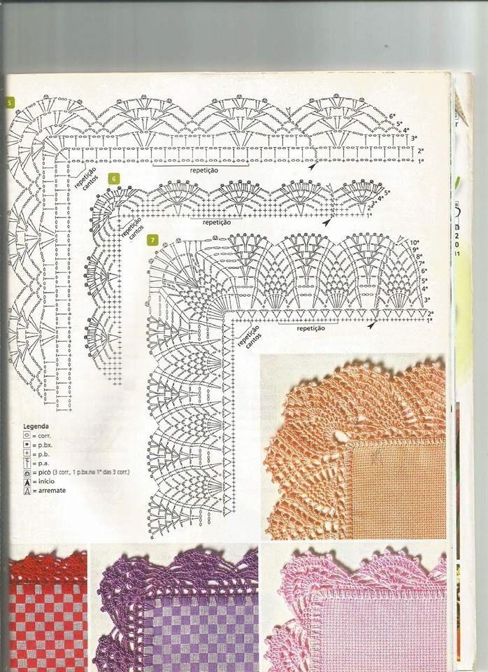 Achei estes barrados no Facebook JAK\'S Bordados | crochet ...