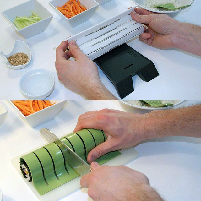 Great Idea For Cutting Sushi Up   15 Creative Kitchen Gadgets
