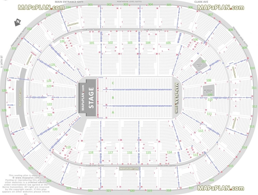 Verizon Center Seating Chart With Seat Numbers En 2020