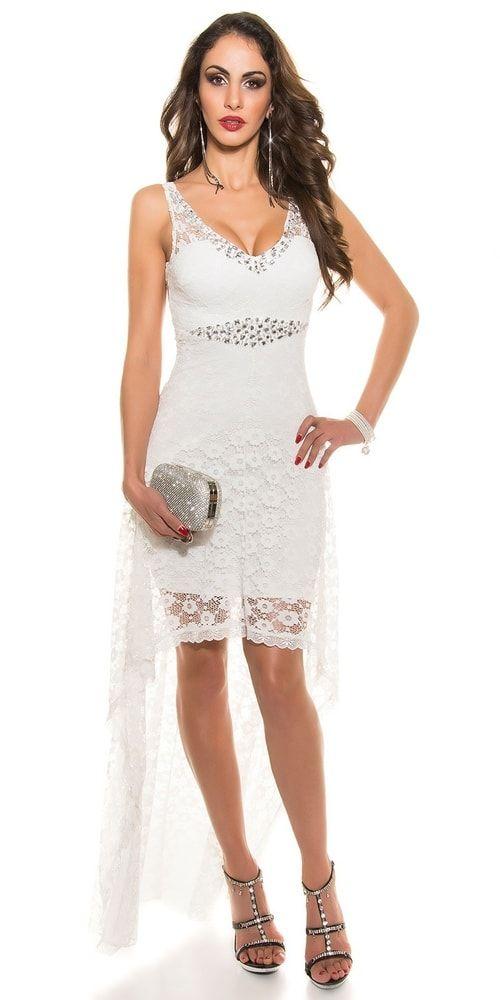 Koktejlové šaty bílé  f05e5a9801