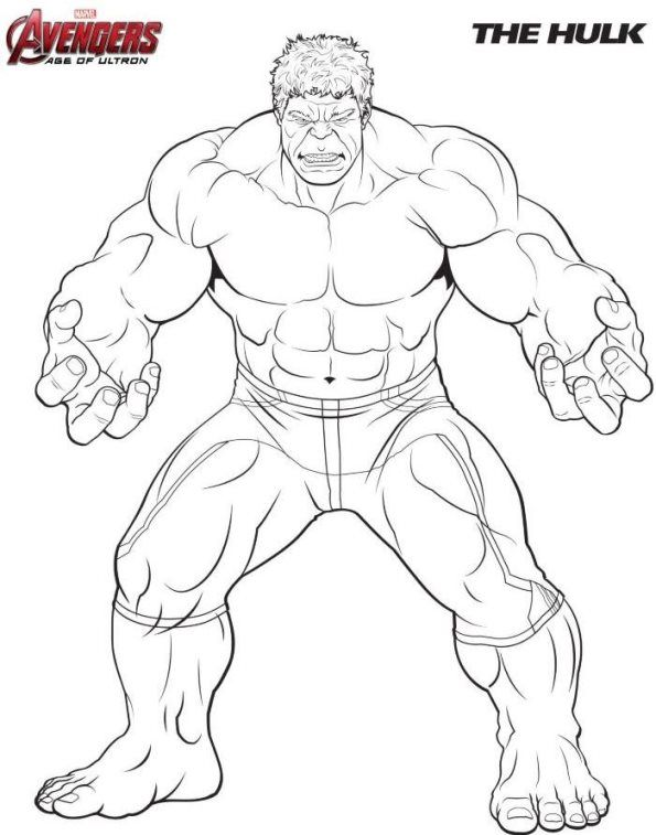 Hulk.jpg (595×757) | coloring pages | Pinterest