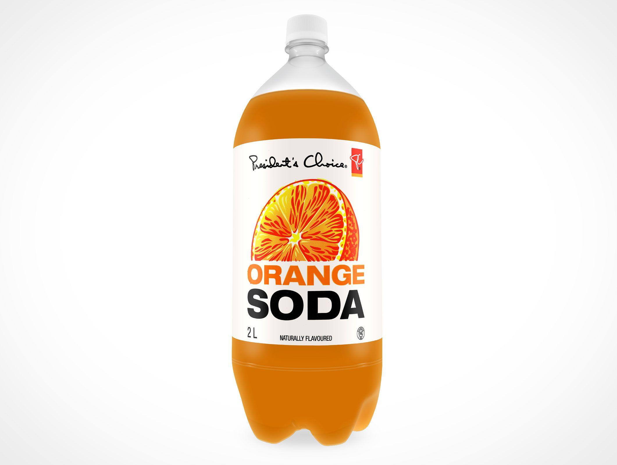 Mockup Soft Drink Plastic Soda Bottle PSD Mockup Label ...