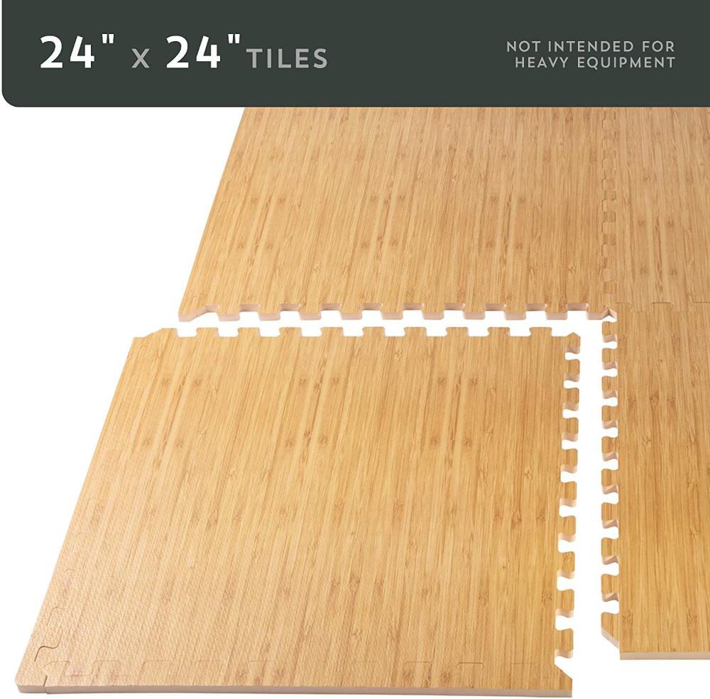 Amazon Com Forest Floor 5 8 Inch Thick 100 Sq Ft 25 Tiles Light Bamboo Interlocking Foam Floor Mats Sp Foam Mat Flooring Anti Fatigue Flooring Foam Tiles