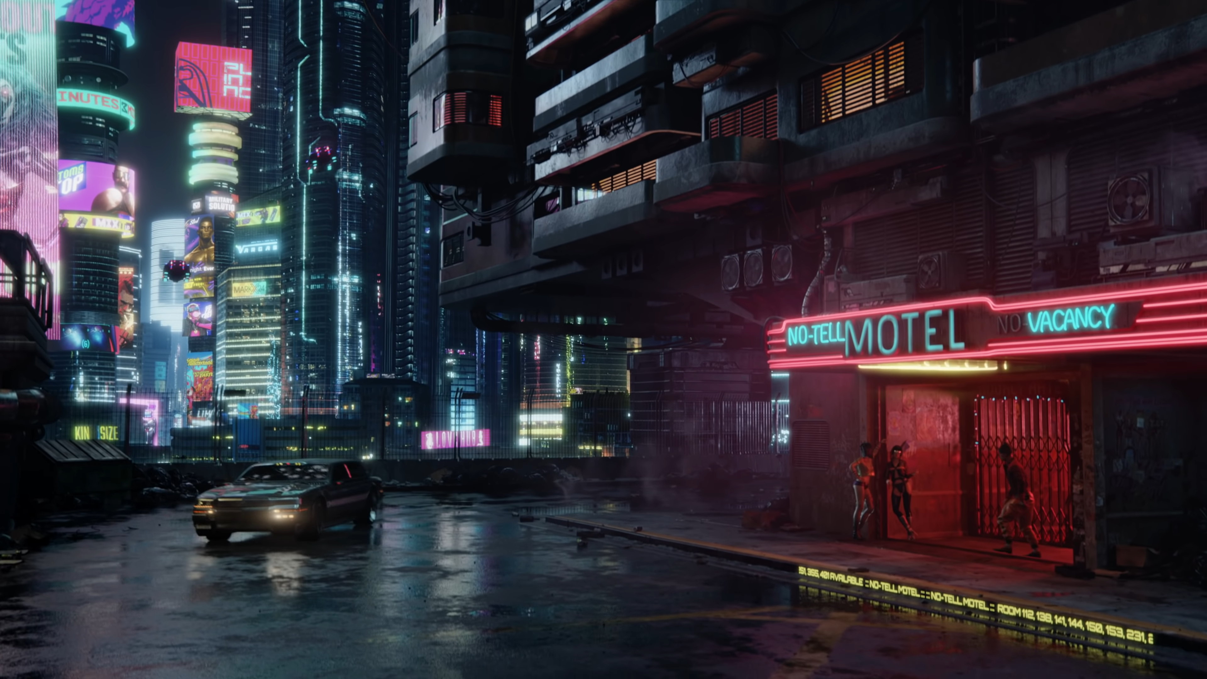 Advertising Ticker On Curb Cyberpunk 2077 Cyberpunk 2077 Cyberpunk City Cyberpunk