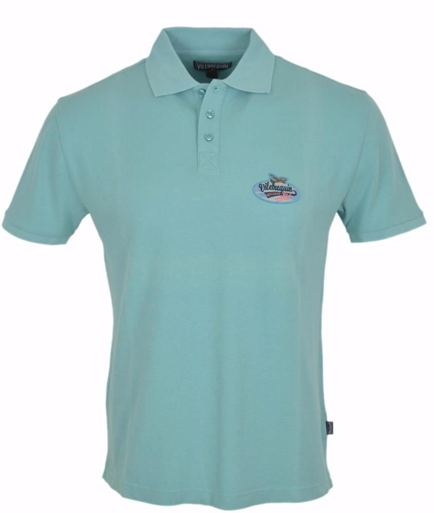 b1dd6786e NEW Vilebrequin Men's Light Aqua Cotton Polo Shirt MEDIUM #Vilebrequin  #PoloRugby