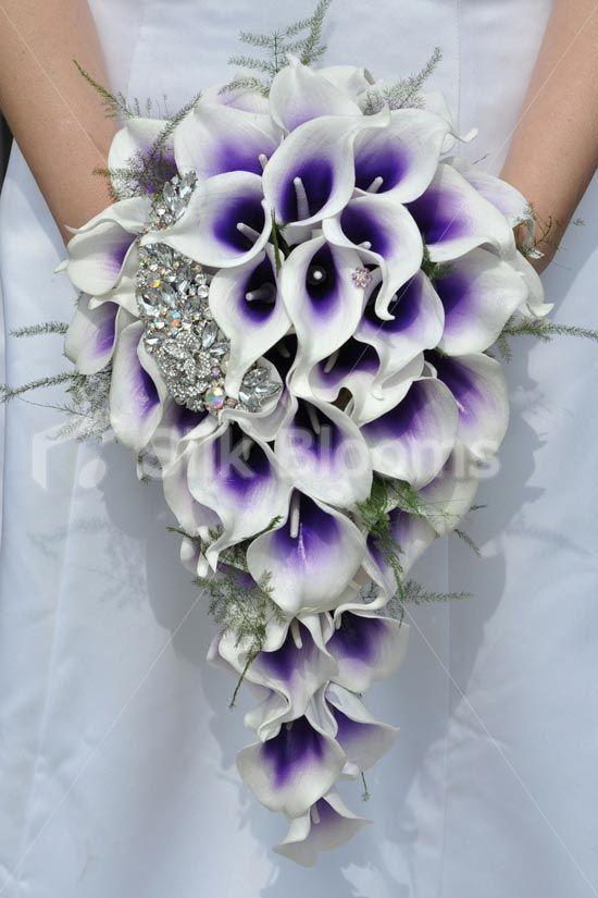 Purple Vermeer Lily Amp Brooch Teardrop Bridal Wedding