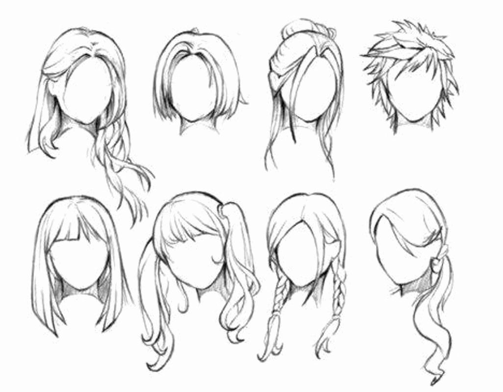 Anime Coloring Book App Awesome Cool Anime Drawings For Android Apk Download Girl Hair Drawing Drawing Hair Tutorial Chibi Hair