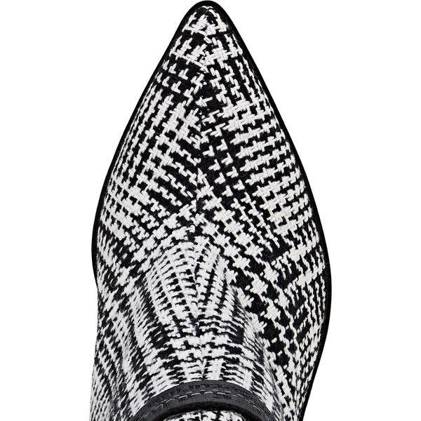 Womens Velvet-Heel Plaid Wool Ankle Booties Off-white Fiu75Jwrs3