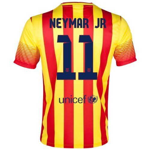 Barcelona Away 2013 14 Jersey (Official Nike) with Neymar Jr. 11 - 52471ea5c1cc1